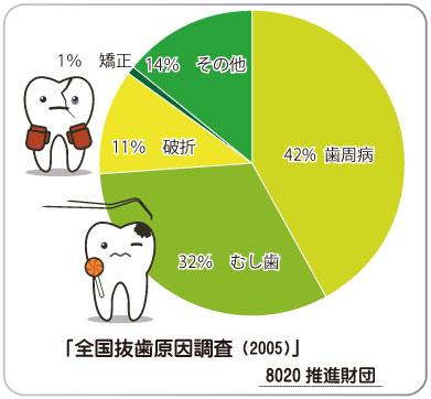 全国抜歯原因調査