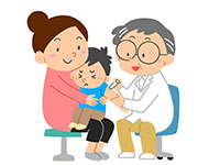 予防接種を受ける子ども