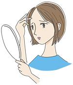髪の状態が気になる女性
