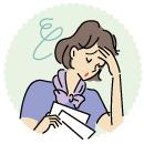仕事のストレスを抱えた女性