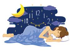 良質な睡眠をとっている女性