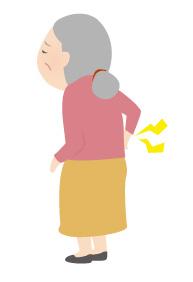 背中が痛いおばあちゃん