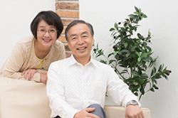 歯の健康な高齢夫婦