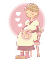 妊婦さんとおなかの赤ちゃん