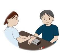定期検診で採血検査
