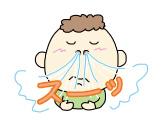 しっかり鼻で呼吸する少年