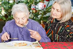 おばあさんの食事