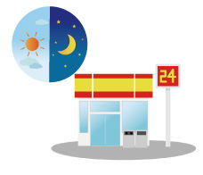 24時間営業のお店