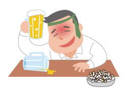 大量の飲酒と喫煙