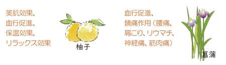 柚子や菖蒲の温浴効果