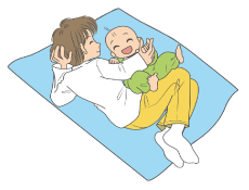 赤ちゃんとスキンシップ