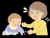 ロタウイルス胃腸炎にかかって嘔吐する赤ちゃん
