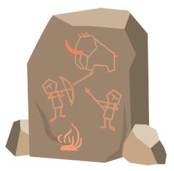 古代人の狩猟と火を使った調理
