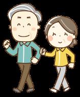 運動をする老夫婦
